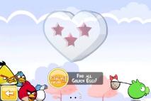 Angry Birds Seasons Hogs and Kisses - Большое Сердце - экран выбора увровней