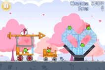 Angry Birds Seasons Hogs and Kisses уровень 10