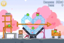 Angry Birds Seasons Hogs and Kisses уровень 11