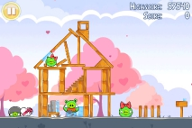 Angry Birds Seasons Hogs and Kisses уровень 12