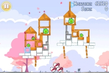 Angry Birds Seasons Hogs and Kisses уровень 13