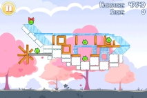 Angry Birds Seasons Hogs and Kisses уровень 3