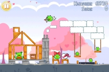 Angry Birds Seasons Hogs and Kisses уровень 6
