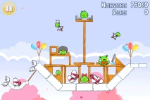 Angry Birds Seasons Hogs and Kisses уровень 7