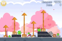 Angry Birds Seasons Hogs and Kisses уровень 8