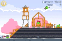 Angry Birds Seasons Hogs and Kisses уровень 9