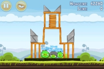Angry Birds Mighty Hoax уровень 4-1