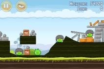 Angry Birds Mighty Hoax уровень 4-10