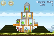 Angry Birds Mighty Hoax уровень 4-11