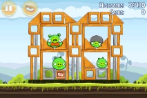 Angry Birds Mighty Hoax уровень 4-13