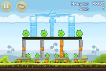 Angry Birds Mighty Hoax уровень 4-14
