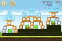 Angry Birds Mighty Hoax уровень 4-15