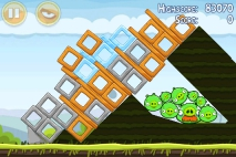 Angry Birds Mighty Hoax уровень 4-16