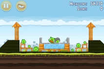 Angry Birds Mighty Hoax уровень 4-2