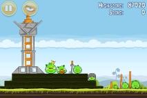 Angry Birds Mighty Hoax уровень 4-21