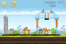 Angry Birds Mighty Hoax уровень 4-3