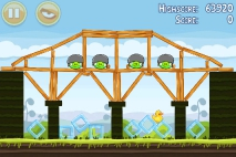 Angry Birds Mighty Hoax уровень 4-4