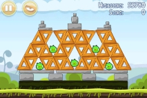 Angry Birds Mighty Hoax уровень 4-6