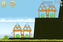 Angry Birds Mighty Hoax уровень 4-7