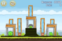 Angry Birds Mighty Hoax уровень 4-8