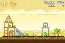 Angry Birds Mighty Hoax уровень 5-1