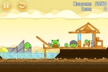 Angry Birds Mighty Hoax уровень 5-10