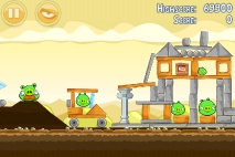 Angry Birds Mighty Hoax уровень 5-11