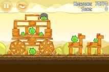 Angry Birds Mighty Hoax уровень 5-4