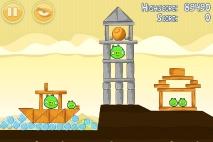 Angry Birds Mighty Hoax уровень 5-7