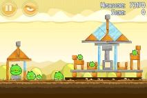 Angry Birds Mighty Hoax уровень 5-9