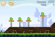 Angry Birds Poached Eggs уровень 1-2