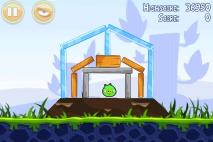 Angry Birds Poached Eggs уровень 1-4