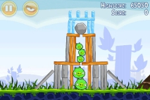 Angry Birds Poached Eggs уровень 1-5