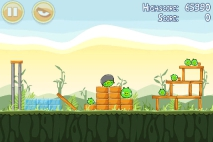 Angry Birds Poached Eggs уровень 2-1