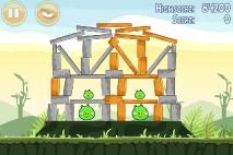 Angry Birds Poached Eggs уровень 2-13