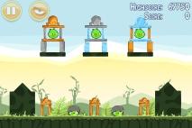 Angry Birds Poached Eggs уровень 2-18