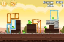 Angry Birds Poached Eggs уровень 3-14
