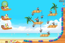 Angry Birds Rio Golden Beachball уровень 14