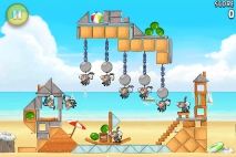 Angry Birds Rio Golden Beachball уровень 3