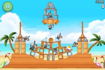 Angry Birds Rio Golden Beachball уровень 6